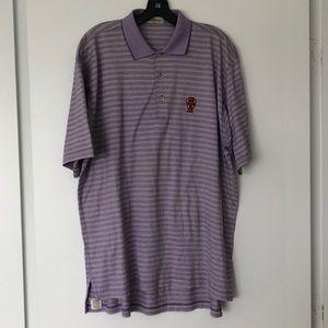Peter Millar Purple Striped Polo - Size Medium